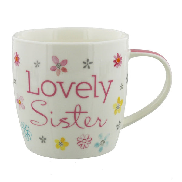 Flourish Lovely Sister Ceramic Gift Mug