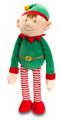 Christmas ELF with Dangly Legs by Keel Toys - medium ELf - hanrattycraftsgifts.co.uk