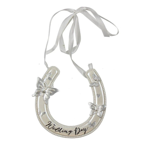 Wings of love Wedding Day Good Luck Resin Horseshoe Horse Shoe - hanrattycraftsgifts.co.uk