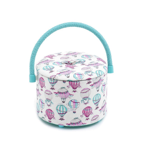 Hobby Gift 'C'est La Vie' Sewing Tub 18 x 18 x 12cm (d/w/h) - hanrattycraftsgifts.co.uk