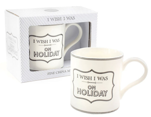 I Wish I Was On Holiday Fine China Mug by Leonardo