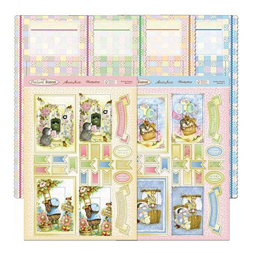 hunkydory return to patchwork forest bunting stepper card kit - hanrattycraftsgifts.co.uk