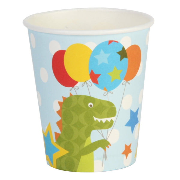 Kiddiwinks Partyware Pack of 8 Paper Cups - Boy Design