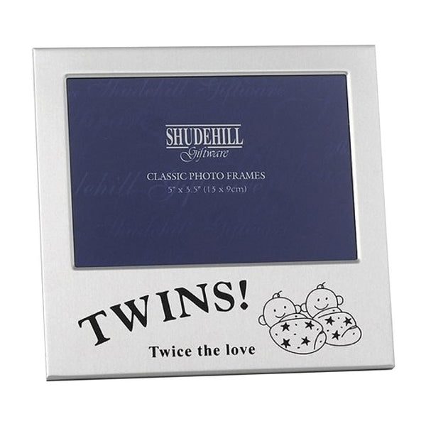 "5"" x 3"" Twins! Photo Frame Twice the love Gift Occasion Present 73475"