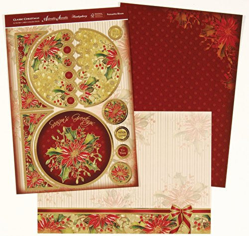 hunkydory adorable scorable luxury card collection classic christmas poinsettia bloom - hanrattycraftsgifts.co.uk