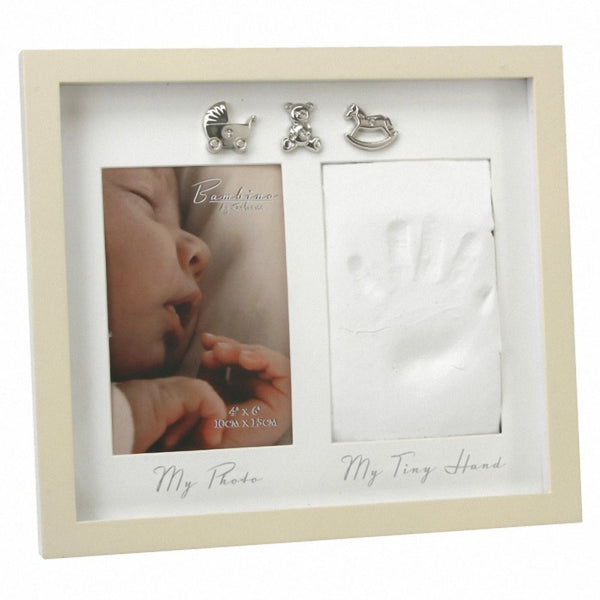 Bambino by Juliana MDF Hand Print Photo frame with 3 icons - hanrattycraftsgifts.co.uk