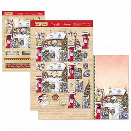 Hunkydory A Very Merry Christmas - Christmas Cottage Deco-Large Set - hanrattycraftsgifts.co.uk