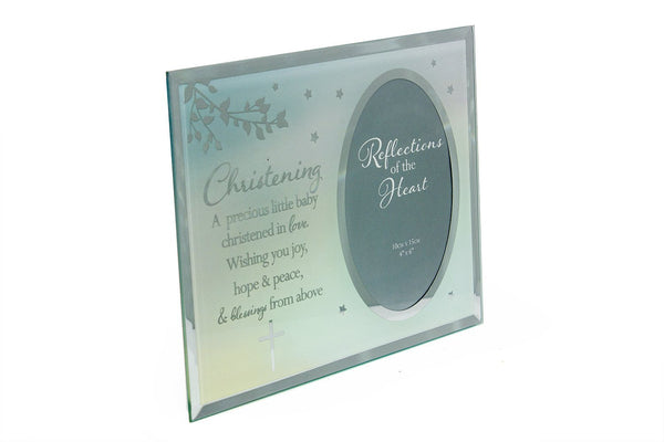 Christening Sentiment - A Precious Little Baby photo frame gift - hanrattycraftsgifts.co.uk