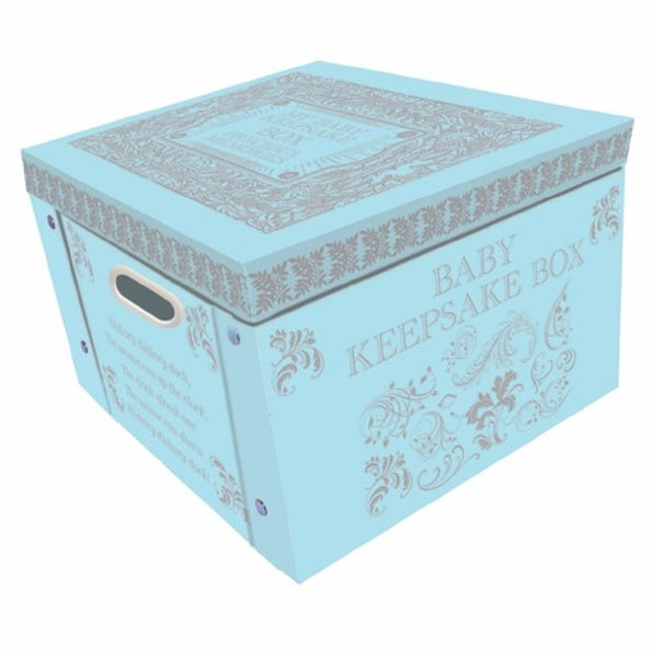 Robert Frederick Collapsible Storage Box, Plastic, Baby Blue - hanrattycraftsgifts.co.uk