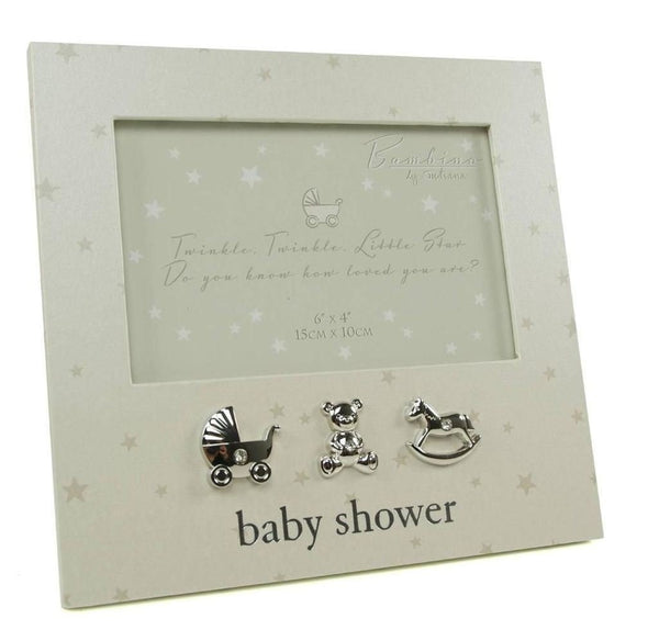 "Baby Shower 6"" x 4"" photo frame Bambino Range by Juliana"