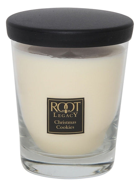 Root Candles large Veriglass Holiday Christmas Cookie Candle, Wax, White - hanrattycraftsgifts.co.uk