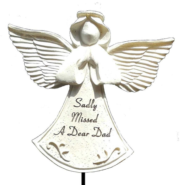 Dad Guardian Angel Stick Graveside Ornament - hanrattycraftsgifts.co.uk