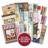 Hunkydory The Little Book Of A6 Paper Pad 144/Pkg-High Street, 24 Designs/6 Each