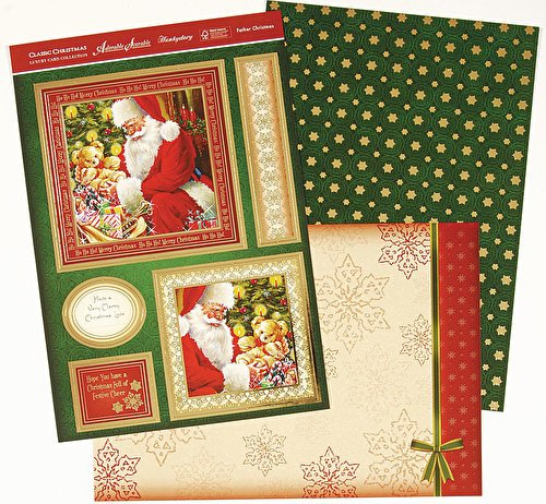 hunkydory adorable scorable luxury card collection classic christmas father christmas - hanrattycraftsgifts.co.uk