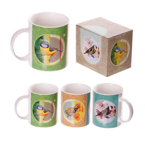 British Birds Bone China Mugs Set of 6