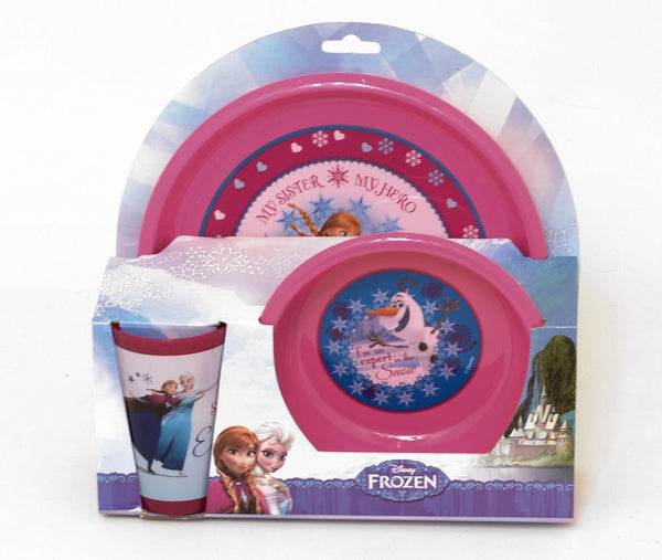 Disney Frozen Meal Time Set ; Plate, Bowl and Beaker - Elsa, Anna & Olaf - hanrattycraftsgifts.co.uk