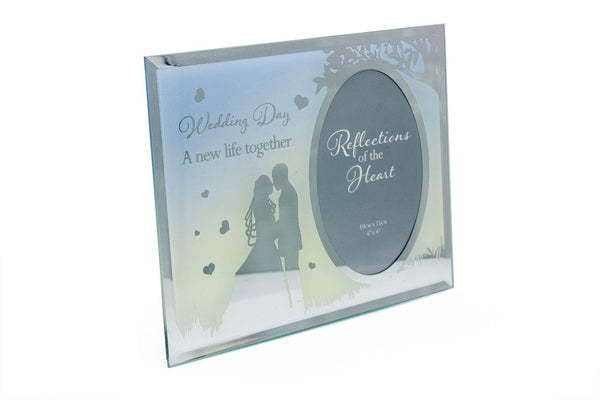 Wedding Day Sentiment - New life together photo frame gift FG516WD - hanrattycraftsgifts.co.uk