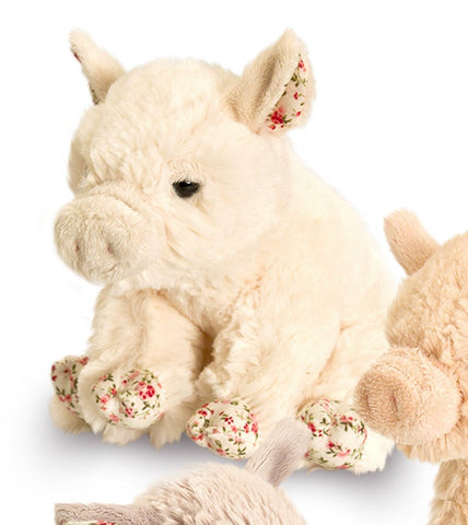 Belle Rose Pig 18cm soft toy - Cream - Cute and Cuddly from Keel Toys - hanrattycraftsgifts.co.uk
