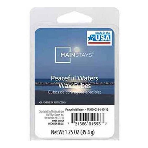 Mainstays Peaceful Waters Scented Wax Cube Melts MS14-059-015-15