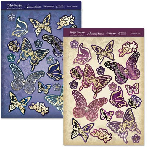 hunkydory twilight butterflies fancy foiled butterflies - hanrattycraftsgifts.co.uk