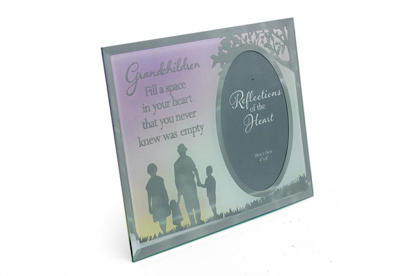 Grandchildren Sentiment - Fill a space in your heart photo frame gift - hanrattycraftsgifts.co.uk