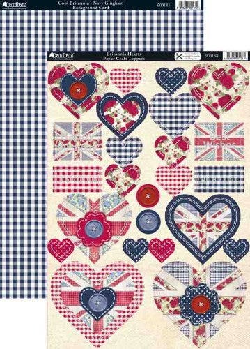 Kanban Britannia Hearts Toppers & Background Card - hanrattycraftsgifts.co.uk