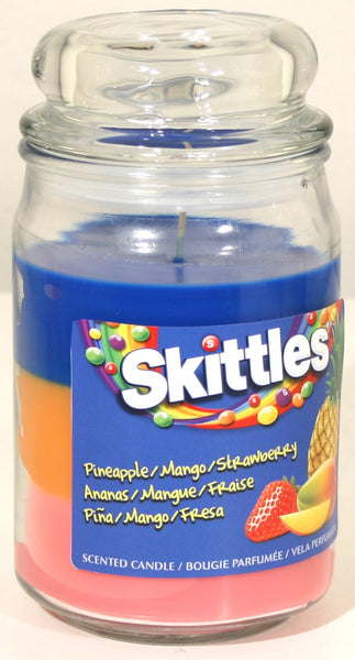 Tropical Scented Triple Poured Skittle Candle 16oz Candle - hanrattycraftsgifts.co.uk