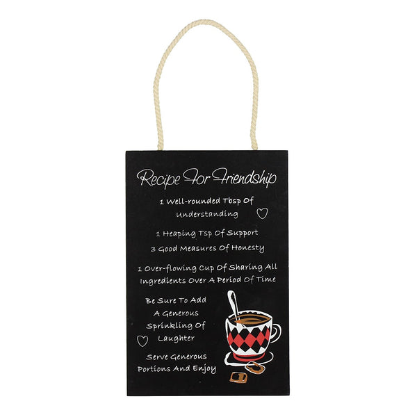 Recipe For A Friendship Hanging Wall Plaque
