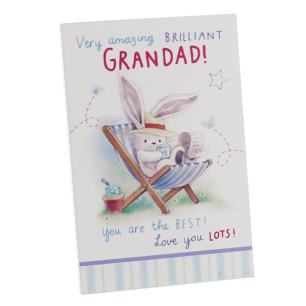 Brilliant Grandad Plaque with Bunny - Standing or Hanging Wall Rectangular Plaque - hanrattycraftsgifts.co.uk