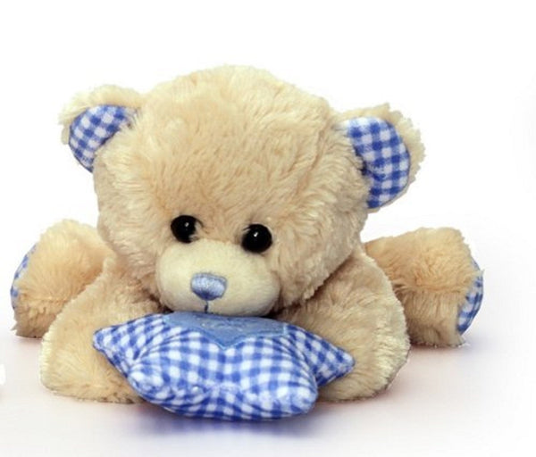 Keel Toys Cuddles Dangle Bear with sound Blue 30cm - hanrattycraftsgifts.co.uk