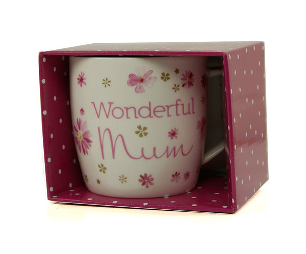 Mum Gift - Flower Collection Beautiful Mug In Gift Box New
