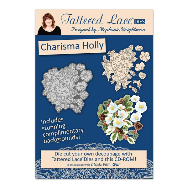 tattered lace christmas charisma holly cd rom set - hanrattycraftsgifts.co.uk