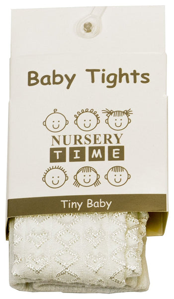 New Baby Girls Nursery Time Newborn - 24 Months Hearts Everyday Tights - hanrattycraftsgifts.co.uk
