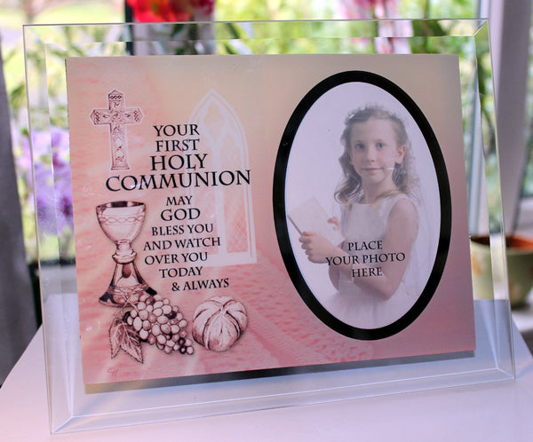 Inspirational Glass Poem Photo Frame Her First Holy Communion Gift
