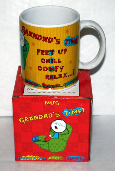 Grandad's Time Mug Ideal Gift - hanrattycraftsgifts.co.uk