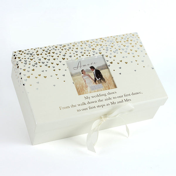 Brides Bridal Wedding Shoe Box with Space for Photo. - hanrattycraftsgifts.co.uk