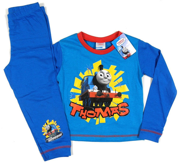 Thomas & Friends Boys Blue 'I Can Be Speedy!' Long Sleeve Pyjamas Set BNWT (3 - 4 Years)