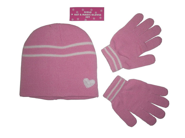 Girls Hat & Magic Gloves Set - Perfect for those Cold Winter Days