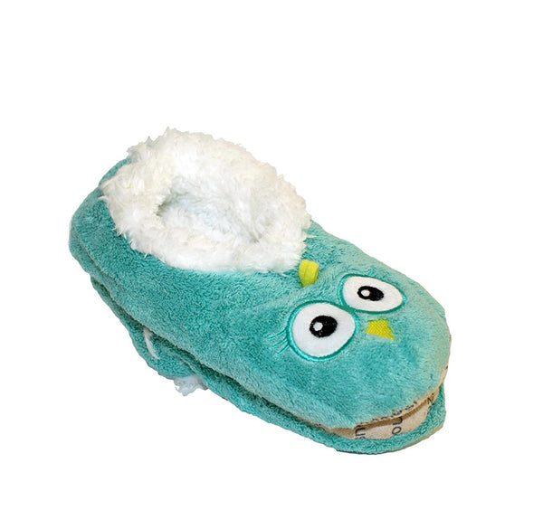 NEW Snoozies Cozy Little Animals Indoor Fleece Slippers with Non Slip Sole (UK 3-4, Blue Owl) - hanrattycraftsgifts.co.uk