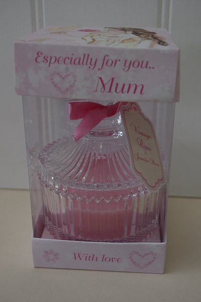 Jenifer Rose Especially For You Mum Scented Candle In Glass Jar Rose - hanrattycraftsgifts.co.uk