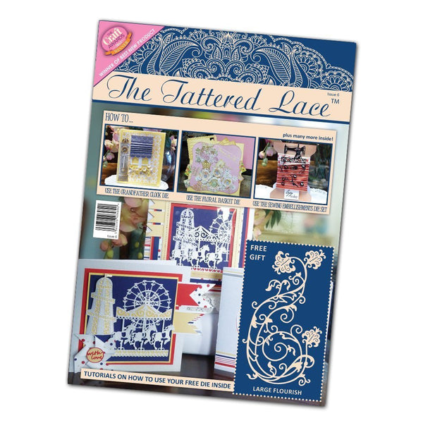 Tattered Lace Issue 6 Magazine, Multi-Colour - hanrattycraftsgifts.co.uk
