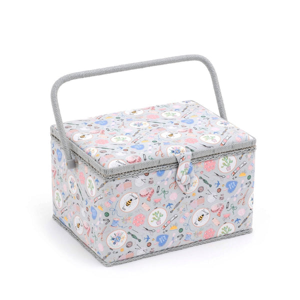 Large Sewing Bee Fabric Sewing Box from Groves, Hobby Gift MRL86 - hanrattycraftsgifts.co.uk