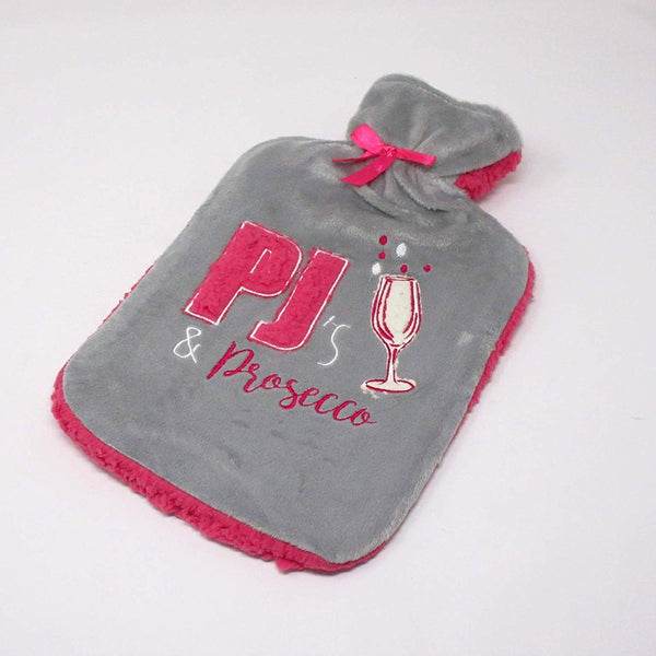 Country Club Thick Sherpa Fleece 2 Litre Hot Water Bottle
