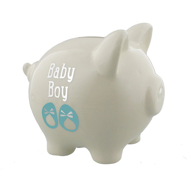 Wendy Jones Blackett My First Piggy Bank - Baby Boy - 12cm - WJ207B - hanrattycraftsgifts.co.uk