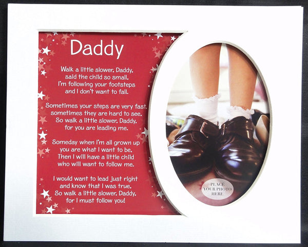 10 x 8 Sentiment Photo Mount Daddy Message