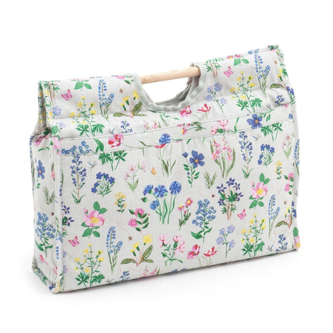 Craft Bag (Wooden Handles) - Spring Garden | Hobby Gift MR468772 | 11x42x31½cm - hanrattycraftsgifts.co.uk