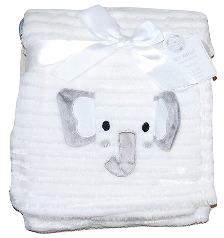 Baby Girl Boy Unisex Soft Fleece Wrap Blanket Pram Cot Crib Moses Basket White - hanrattycraftsgifts.co.uk