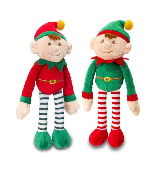 Dangle Elf's Set of 2 20cm Plush Soft Toys - hanrattycraftsgifts.co.uk