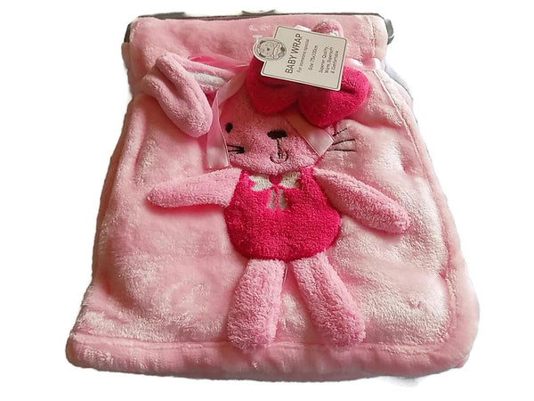 Baby 3d Wrap/Blanket - Bunny Color Pink 917
