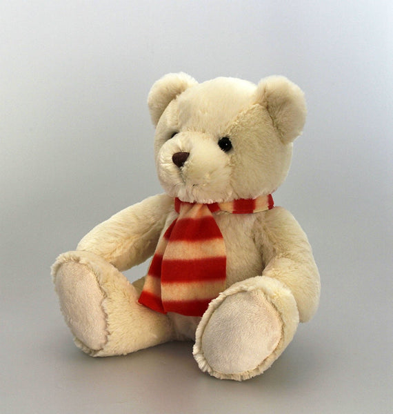 Supersoft Teddy Bear (Cream) With Scarf 30cm